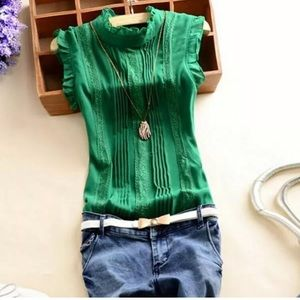 Imported Green Sleevesless Top Small